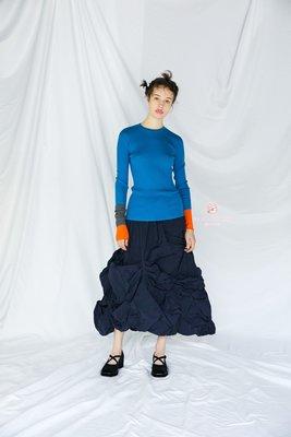 MOMO飾品店~enfold 冬季新款 百搭純棉袖子撞色個性 線衣/打底衫  日本代購