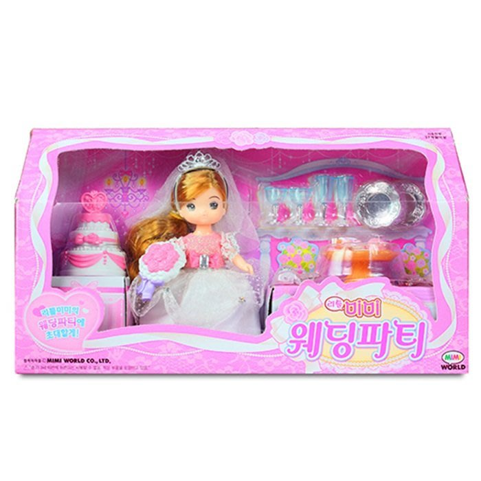【阿LIN】15518A 迷你MIMI 婚禮派對組 MIMI WORLD 韓國 衣服 鞋子 ST安全玩具