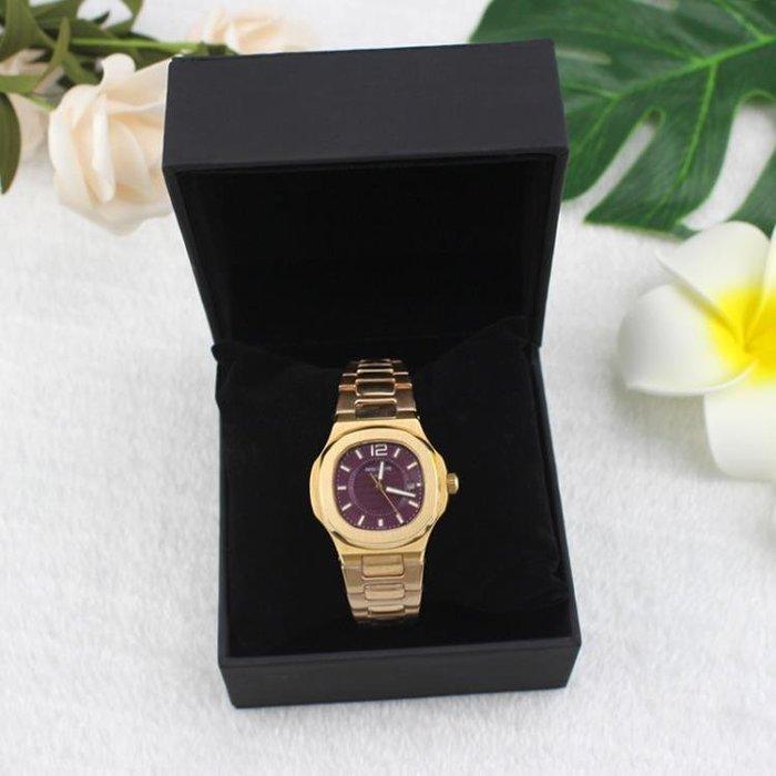 翻蓋高端定制禮品包裝盒黑色pu簡約手錶包裝盒首飾收納盒手錶盒 芊惠衣屋