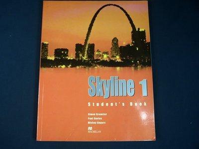 【考試院二手書】《Skyline 1》ISBN:0333926544│Palgrave Macmillan│Simon Brewster│七~八成新(11F22)