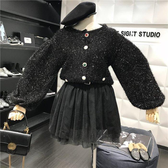 薄外套 外套 衛衣 開衫外套 毛衣秋季新品氣質寬松燈籠長袖百搭時尚個性紐扣亮絲針織開衫外套