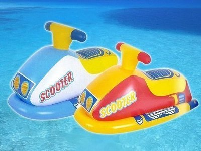 【TreeWalker 露遊】摩托車造型充氣艇 小朋友酷夏最愛摩托車 機車 坐式遊艇