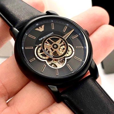 ARMANI阿曼尼男女通用錶,編號AR00001,42mm黑錶殼,深黑色錶帶款
