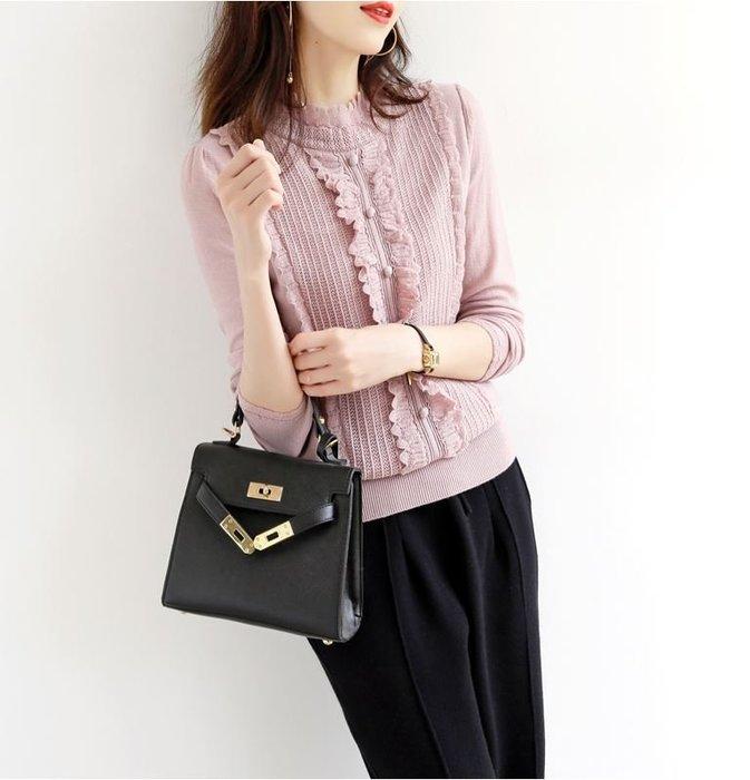 法式優雅別緻花邊羊毛針織衫 1198   米蘭風情