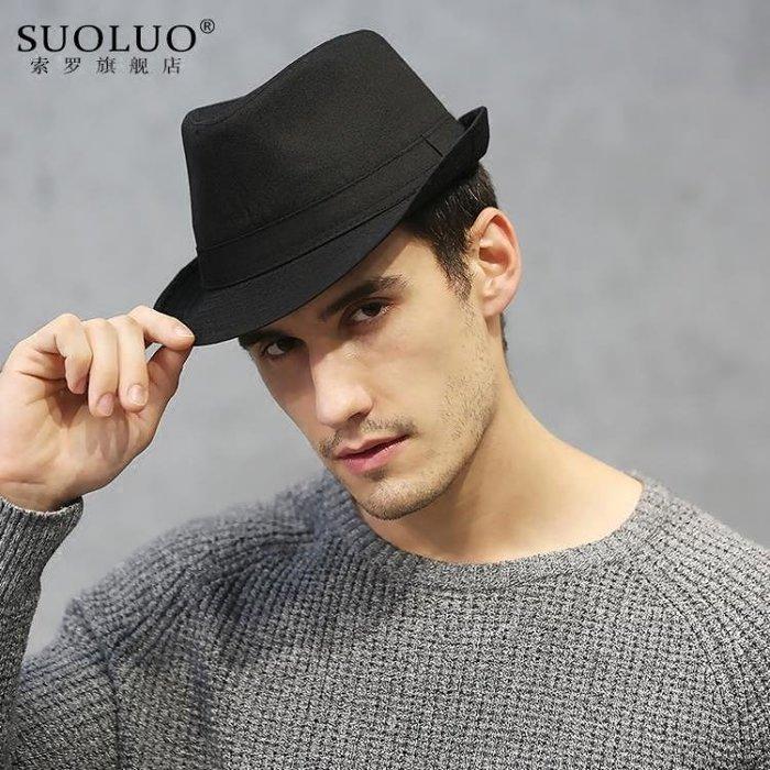 小禮帽 黑色潮人爵士小禮帽西部牛仔帽邁克杰克遜帽子街舞英倫男女紳士帽