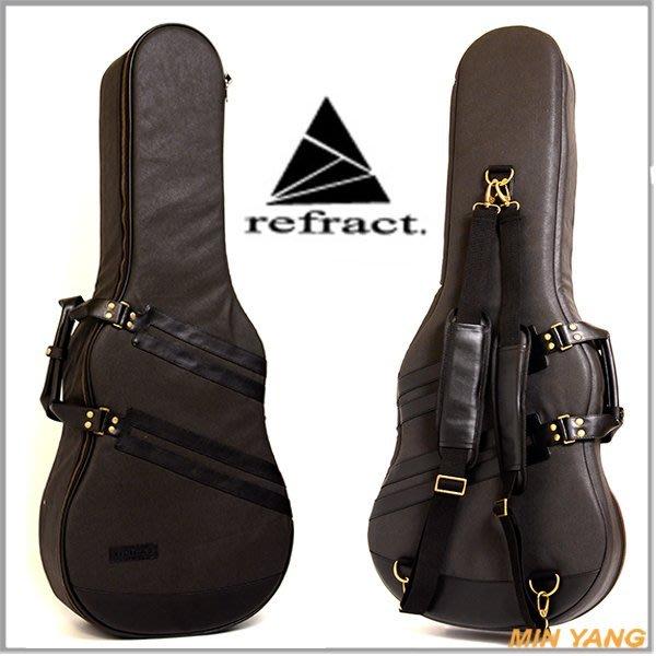 【民揚樂器】民謠吉他袋 Refract SP-AG-BK 黑色防潑水 木吉他軟硬盒