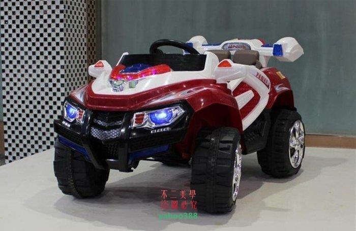 美學209雙驅悍馬兒童電動車四輪遙控汽車電瓶車寶寶可坐玩具童 遙控自駕帶鑰❖54144