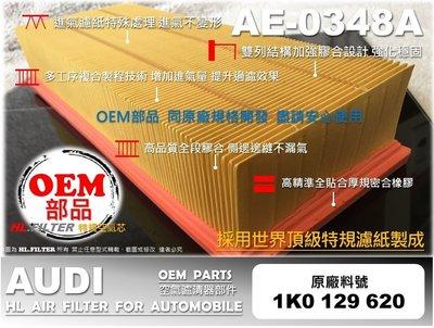 【HL】AUDI TT 8J 1.8 2.0 TFSI 2008年後 原廠 正廠 型 引擎 空氣芯 空氣濾清器 引擎濾網