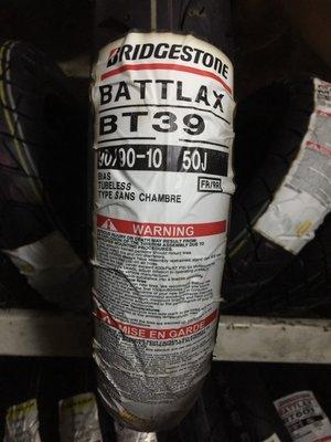 板橋良全 普利司通 BT39 90/90-10 $1700元 含氮氣 專業服務