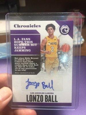 (記得小舖)NBA 2017-2018 PANINI LONZO BALL 新人RC卡 親筆簽名卡 限量49張起標無底價