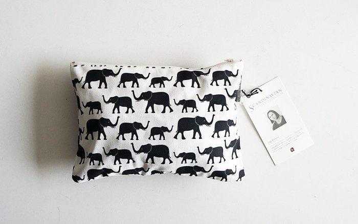 MH選物室 日本 ARCO 與 北歐設計師 聯名棉質 化妝包 置物袋 手拿袋
