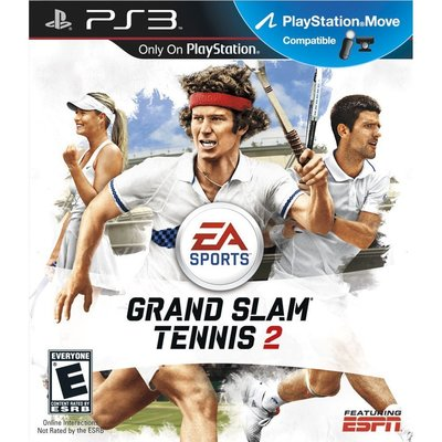 全新未拆 PS3 網球大滿貫2 (相容Move) -英文美版- Grand Slam 2