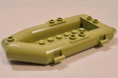 【LEGO樂高】城市系列交通工具 橄欖綠色小船救生艇橡皮艇小艇 Olive Green boat Rubber Raft