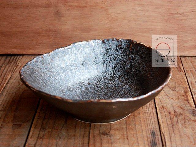 +佐和陶瓷餐具批發+【XL071119-3溶岩流角形缽-日本製】日本製 造型缽 碗缽 食器 餐具 煮物缽