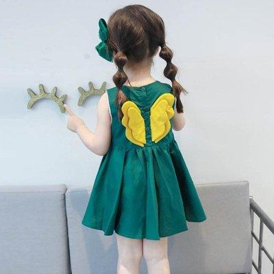 女童洋裝夏裝女寶寶小童兒童童裝洋氣夏季背心公主裙子