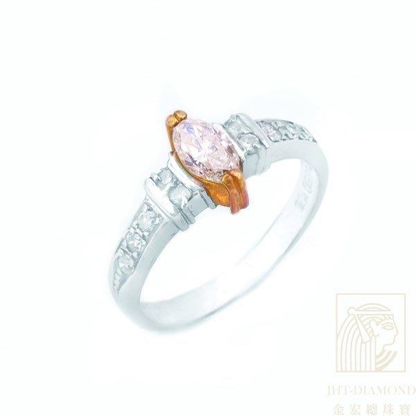 【JHT 金宏總珠寶/GIA鑽石專賣】 0.36ct天然鑽石戒指 /材質:PT850/18K (JB20-C54)