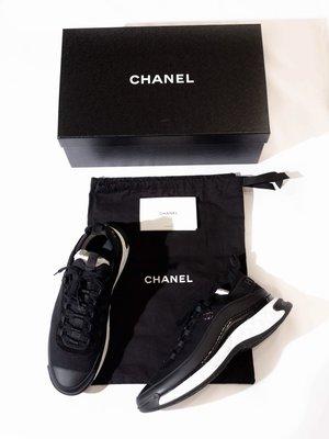 Chanel Logo Platform casual shoes.(Black) 黑色 休閒鞋 香奈兒