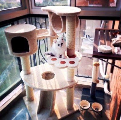貓爬架多層大貓架貓跳台劍麻支柱貓窩貓玩具貓抓板yi 【全館免運】