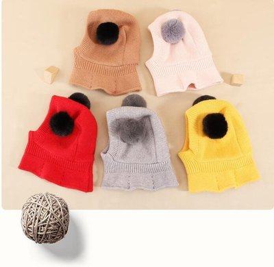兒童帽子秋冬季男童防風護耳一體帽毛線帽保暖圍脖小孩寶寶帽冬天