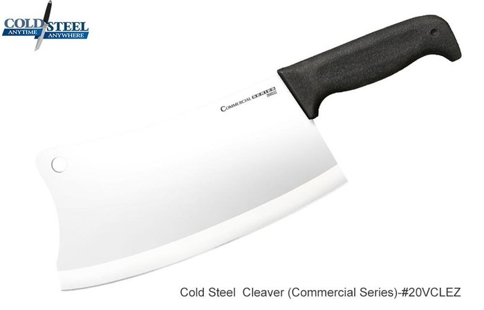 【angel 精品館 】Cold Steel Cleaver Knife 中式剁刀 4116鋼低溫淬火 20VCLEZ