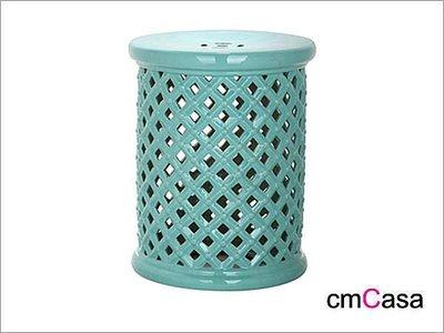 = cmCasa = [3842]東方古典人文設計 鳥籠鏤空陶瓷凳/換鞋凳/陶瓷椅 雙色新發行