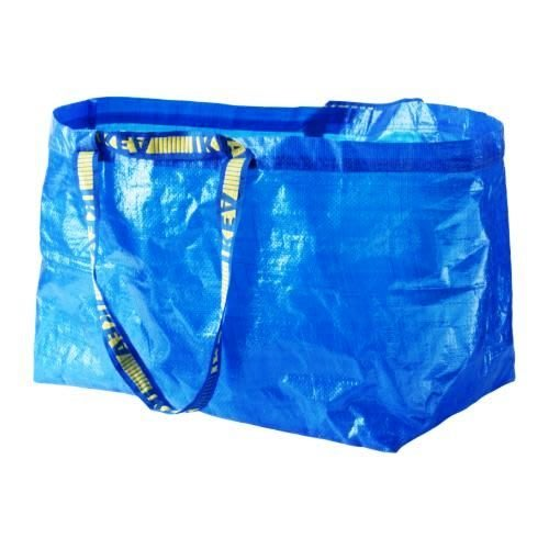 ☆創意生活精品☆IKEA FRAKTA 環保購物袋 /71公升/ 藍色