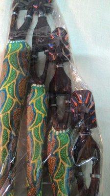 巴里島原住民雕繪女四人組-A/柚木手工雕刻彩繪/雕塑擺飾裝飾/藝術品洋風/自然材質/特價/出清/2-14-20299