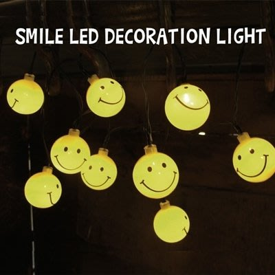 (I LOVE樂多)日本進口 SMILE LED DECORATION LIGHT 微笑小夜燈 情境燈 露營 派對