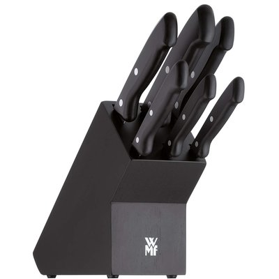 【MU812】德國 WMF 經典系列 七件式刀具組 菜刀 牛排刀 準備刀 切肉刀 麵包刀 削皮刀 木製刀座