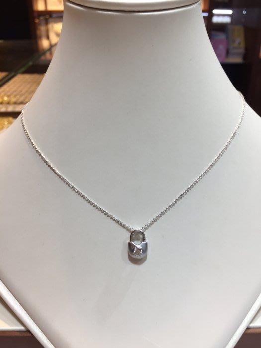 18分天然鑽石項鍊,八心八箭完美車工可愛款式設計,出清價9800