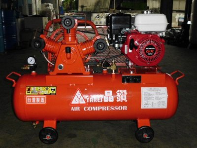 晶鑽牌 2HP高壓往復式空壓機(汽油引擎)