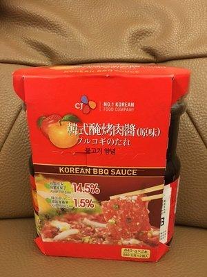 CJ 韓式水梨醃烤肉醬 /醃烤醬-原味840g 2 入   289元--可便利商店取件付款