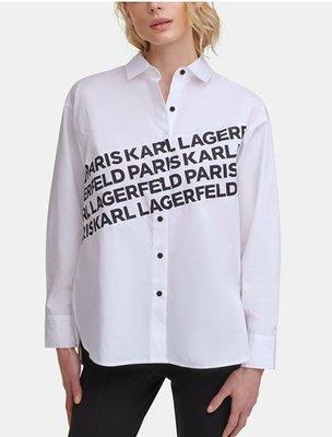 Karl Lagerfeld Paris Logo Angled Shirtt   4/4止