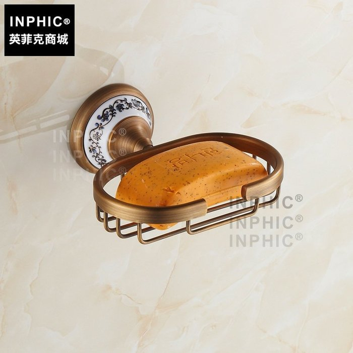 INPHIC-歐式陶瓷仿古肥皂架 肥皂盒 皂網 精致肥皂架 全銅肥皂網_S1360C