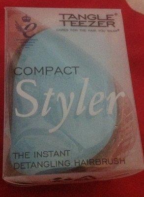 全新TANGLE TEEZER Compact Styler 精巧抗糾結魔法梳 天空藍