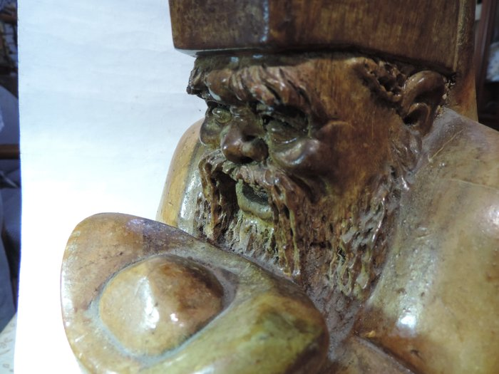 丁香之家--早期老件手雕台灣九芎木土地公 長者委託釋出