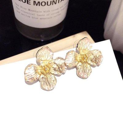 cub正韓飾品迷人飾品  韓國東大門新款復古個性仙氣甜美花朵夸張銀針耳環耳飾
