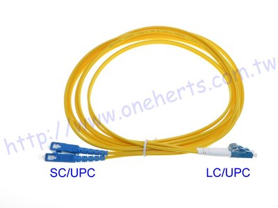 SC-LC單模雙芯光纖跳線3米LC S...
