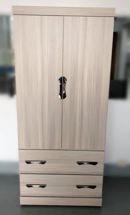 【樂居二手家具館】全新LC41703CJJ白橡色單人衣櫃/ 衣櫥 衣架 收納櫃 斗櫃 台中中古家具買賣