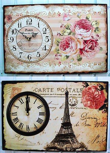 蘇菲亞精品傢飾~法式鄉村復古鐵藝風情巴黎鐵塔時鐘壁飾掛