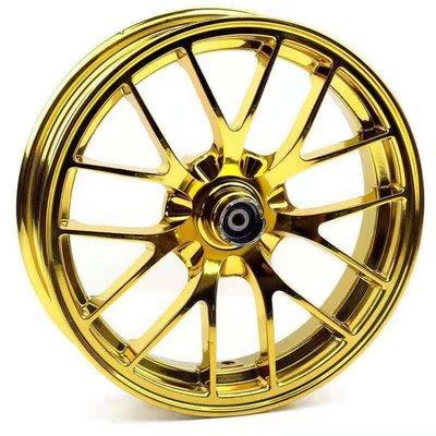『台灣現貨』電摩改裝 金色 12寸 電鍍寶馬輪圈 電鍍鋼圈 電動車 戰狼 X戰警 獨角獸 改裝 零件