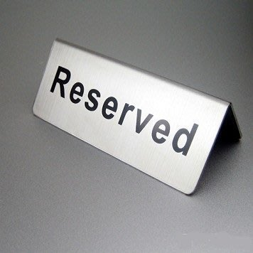 【灶咖好物】餐廳預留訂位牌 座位牌 告示牌  Reserved字樣