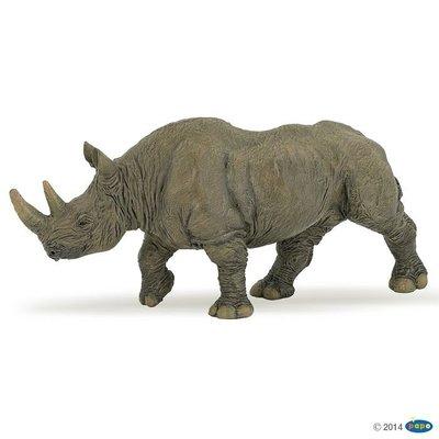 【法國 PAPO純正品】精緻仿真動物模型 野生動物 50066 黑犀牛 Black Rhinoceros_新品現貨 面交