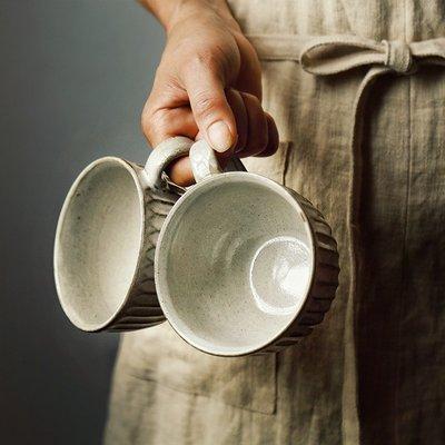 粗陶水杯馬克杯杯子拉花杯拿鐵大口早餐杯 甜品杯咖啡杯   全館免運