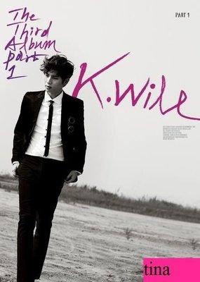 K.Will韓國原版第三張專輯K.Will Vol. 3 Part 1 全新未拆下標即售Dynamic Duo徐仁國Sistar