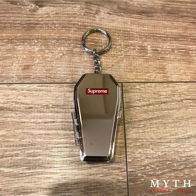 ☆MYTH Select☆ SUPREME COFFIN KEYCHAIN 銀色 正品 現貨