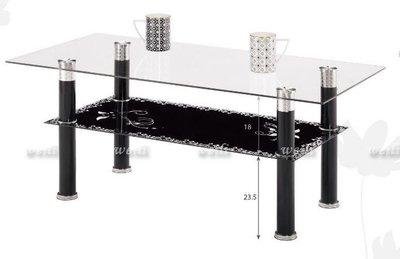 10E【新北蘆洲~偉利傢俱】格蘭德3.3尺玻璃大茶几-編號(E284-3) 新北市