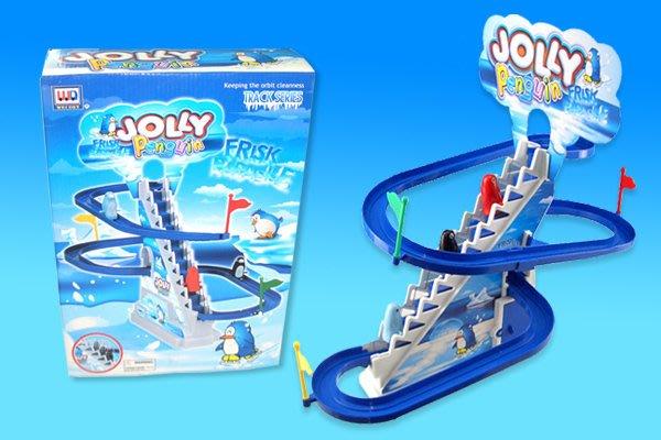 ㊣迪高企鵝音樂電動樓梯軌道組~ 企鵝爬樓梯溜滑梯~◎童心玩具1館◎