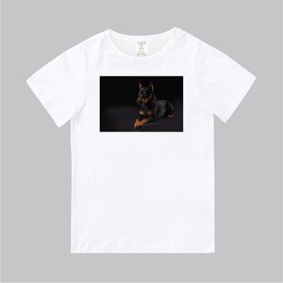 T365 MIT 親子 童裝 情侶 T恤 T-shirt 短T 狗 DOG 汪星人 杜賓狗 杜賓犬 Doberman