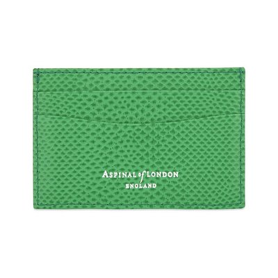 [要預購] 英國代購 ASPINAL OF LONDON 超薄皮革卡夾 綠色